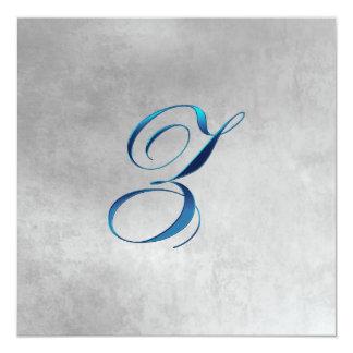 Invitación elegante del monograma de Z