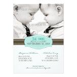 Invitación elegante del nacimiento de los gemelos:
