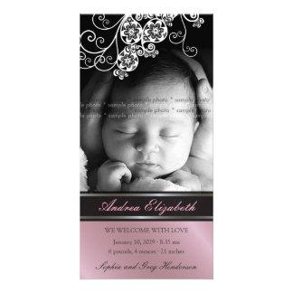Invitación elegante del nacimiento del bebé de la tarjeta personal
