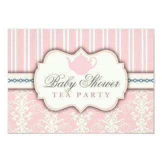 Invitación elegante del té de la fiesta de