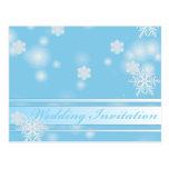 Invitación elegante elegante del boda del invierno tarjetas postales