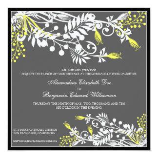 Invitación elegante floral del boda de la isla