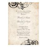 Invitación elegante floral del boda del vintage ne