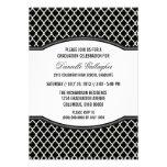 Invitación elegante gris de la graduación de Quatr