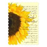 Invitación elegante hermosa del boda del girasol