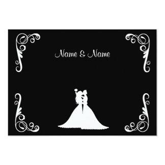 Invitación elegante lesbiana de la novia y del