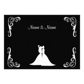 Invitación elegante lesbiana de la novia y del bod