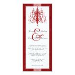 Invitación elegante moderna del boda de la lámpara