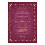 Invitación elegante oscura del boda de la frambues