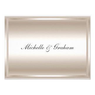 Invitación elegante popular de plata del boda