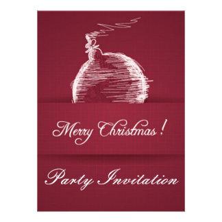 invitación elegante roja 2 del navidad de la baya