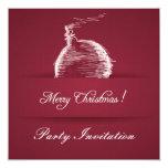 invitación elegante roja del navidad de la baya invitación 13,3 cm x 13,3cm