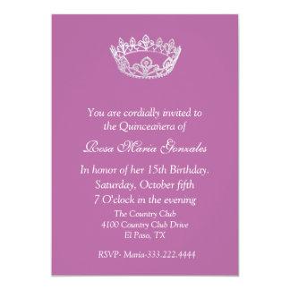 Invitación elegante rosada de Quinceañera de la