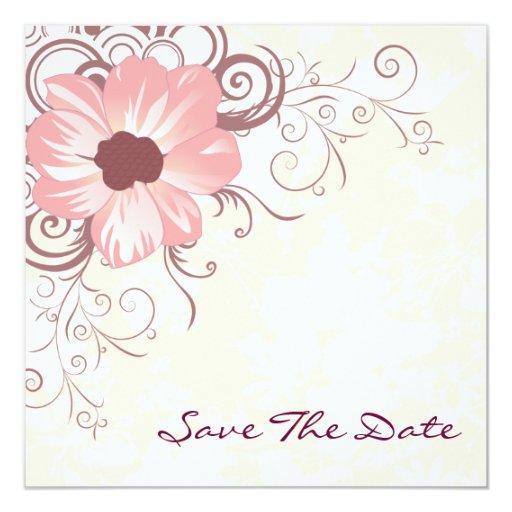 Invitación elegante rosada del boda
