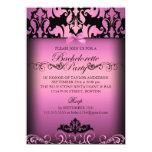 Invitación elegante rosada del fiesta de
