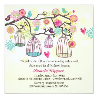Invitación emplumada de la primavera de los amigos