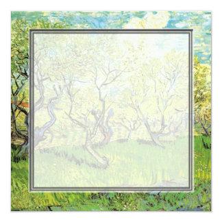 invitación en blanco. huerta de Van Gogh en flor