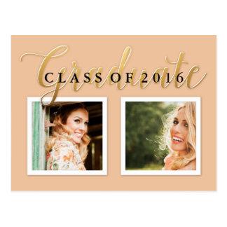 Invitación en colores pastel 2016 de la graduación postales