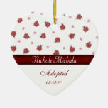 Invitación en forma de corazón Keepsa de la adopci Ornaments Para Arbol De Navidad