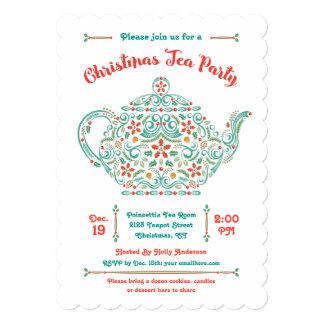 Invitación encantadora de la fiesta del té del