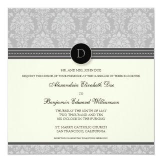 Invitación encantadora del boda del cuadrado del