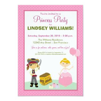Invitación encantadora del fiesta de la princesa y