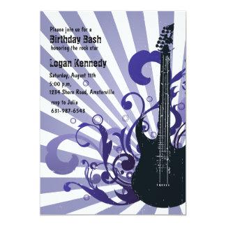 Invitación enérgica de la guitarra