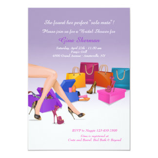 Invitación enloquecida zapato