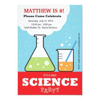 Invitación enojada del cumpleaños de la ciencia invitación 12,7 x 17,8 cm