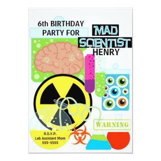Invitación enojada del cumpleaños del laboratorio