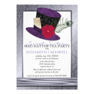 Invitación enojada del dulce 16 del sombrerero