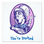 Invitación enojada del sombrerero invitación 13,3 cm x 13,3cm