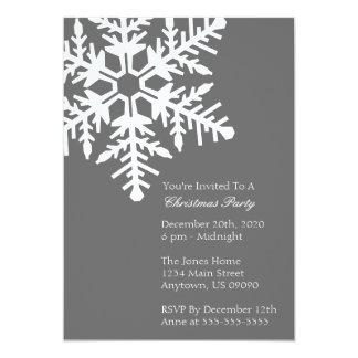 Invitación enorme de la fiesta de Navidad del copo Invitación 12,7 X 17,8 Cm