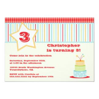 Invitación enrrollada colorida de la fiesta de invitación 12,7 x 17,8 cm