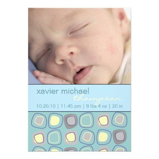 Invitación enrrollada de la foto del bebé de los b