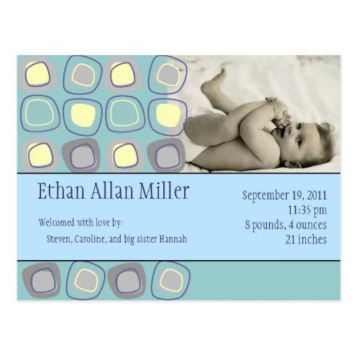 Invitación enrrollada de la foto del bebé de los postal