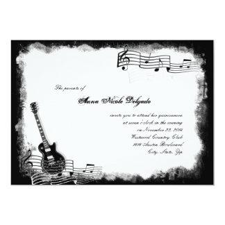 Invitación enrrollada de Quinceanera de la música