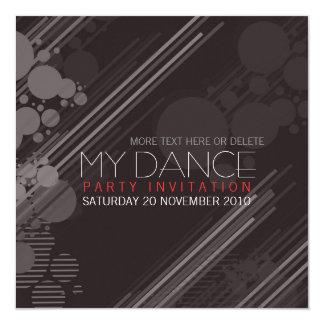 Invitación enrrollada del baile de la casa invitación 13,3 cm x 13,3cm