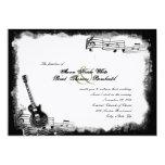Invitación enrrollada del boda de la música de la