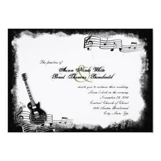 Invitación enrrollada del boda de la música de la invitación 12,7 x 17,8 cm