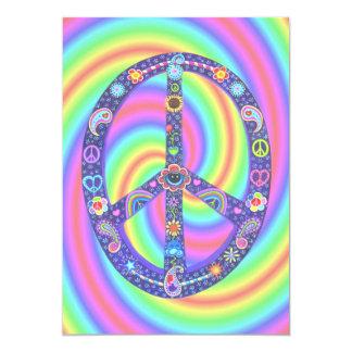 Invitación enrrollada del signo de la paz