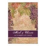 Invitación envejecida del boda del viñedo de la invitación 12,7 x 17,8 cm