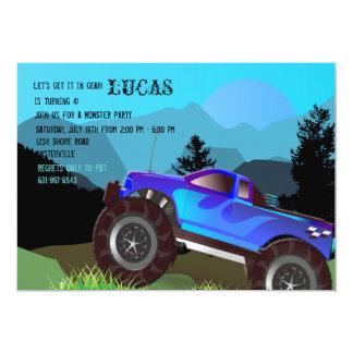 Invitación escénica del monster truck