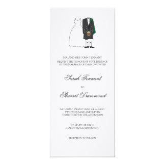 Invitación escocesa del boda de novia y del novio