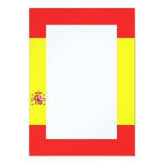 Invitación española de la frontera de la bandera
