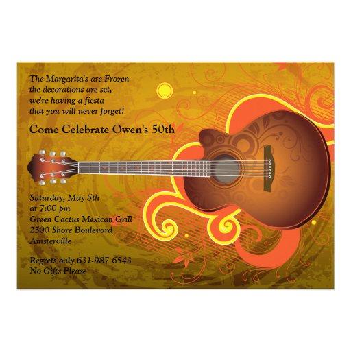 Invitación española de la guitarra