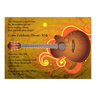 Invitación española de la guitarra invitación 12,7 x 17,8 cm