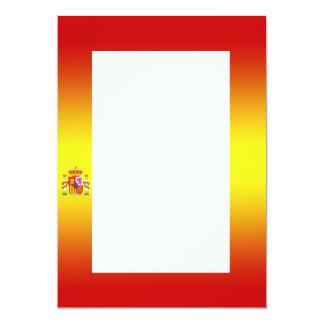 Invitación española de la pendiente de la bandera