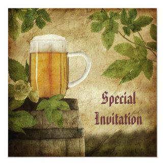 Invitación especial de la cerveza