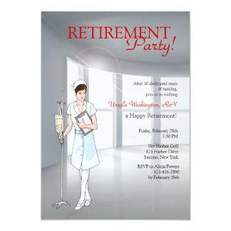 Invitación especial del fiesta de retiro de la invitación 12,7 x 17,8 cm